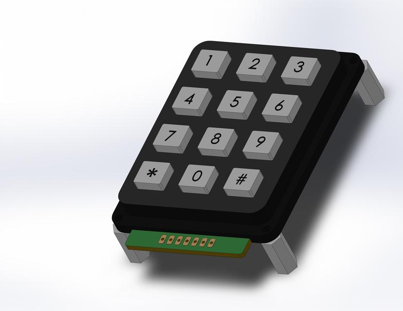 Numeric Keypad 3x4 | 3D CAD Model Library | GrabCAD