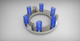 Pressure plate with springs (CLUTCH)
