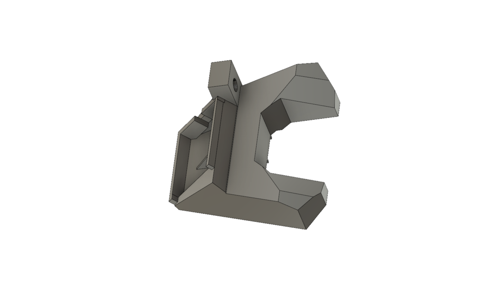 Prusa angled fan nozzle duct remake | 3D CAD Model Library