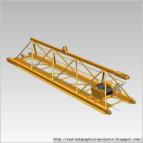 TOWER CRANE -Crane jib-base-