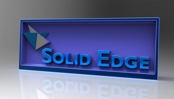 Solid Edge desk plaque