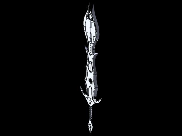 A Evil Sword 3d Cad Model Library Grabcad