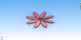 Flower Fan Blade