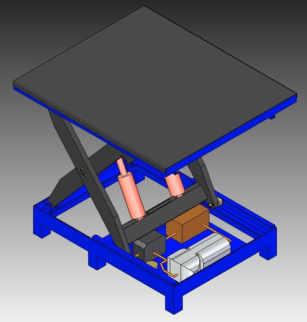 Scissor Lift table | 3D CAD Model Library | GrabCAD