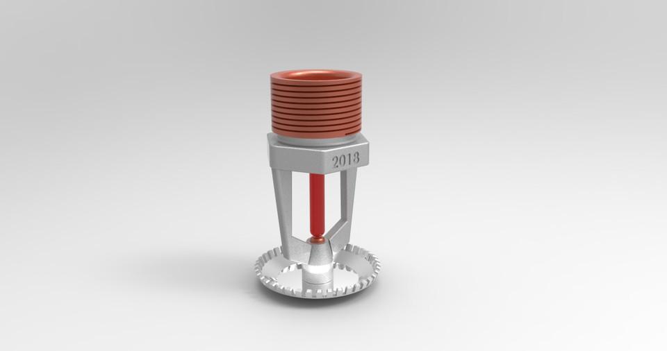 Sprinkler Head | 3D CAD Model Library | GrabCAD