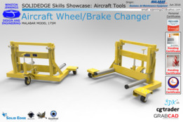 Solid Edge Skills Showcase: Aircraft Wheel/Brake Changer