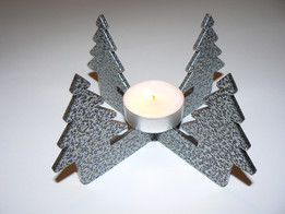 Candle stand with tree design
