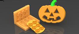Mold for Pumpkin  | TRINOTA