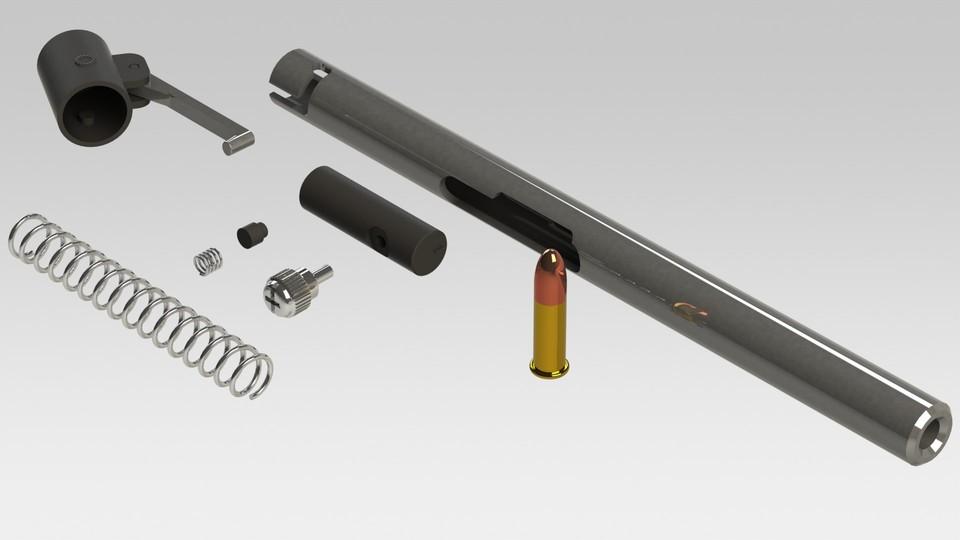 Pen Gun Assembly | 3D CAD Model Library | GrabCAD