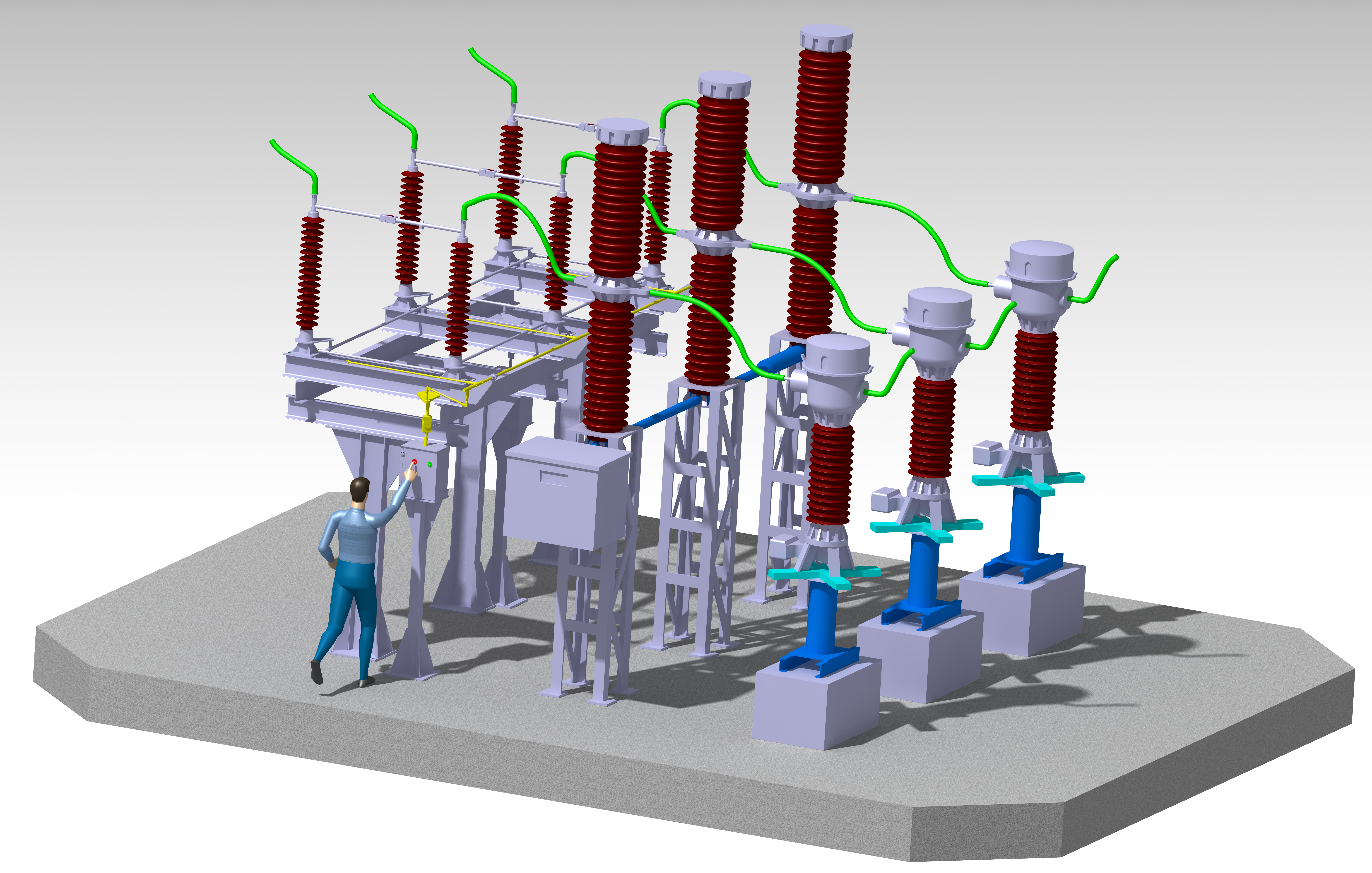 Power Transformer Drawing Energy And Power