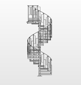 Industrial winding staircase