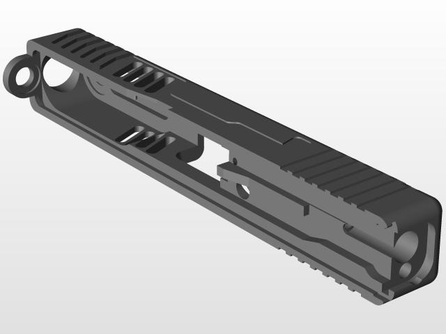 glock slide | 3D CAD Model Library | GrabCAD