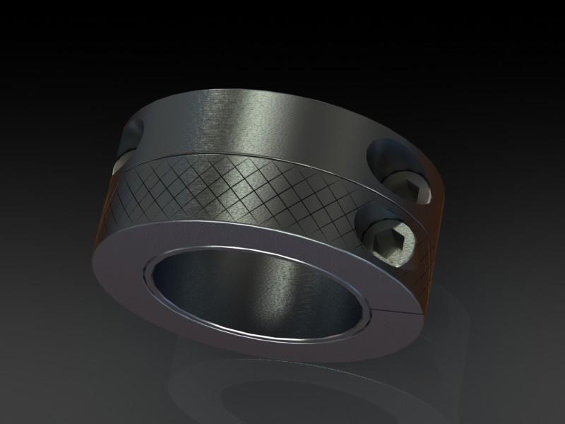 Adjustable width clamp on shaft collars d cad model