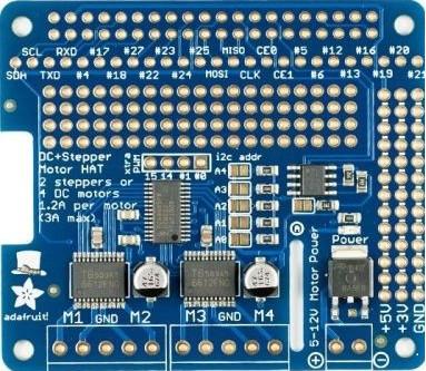 Adafruit DC & Stepper Motor HAT for Raspberry Pi | 3D CAD