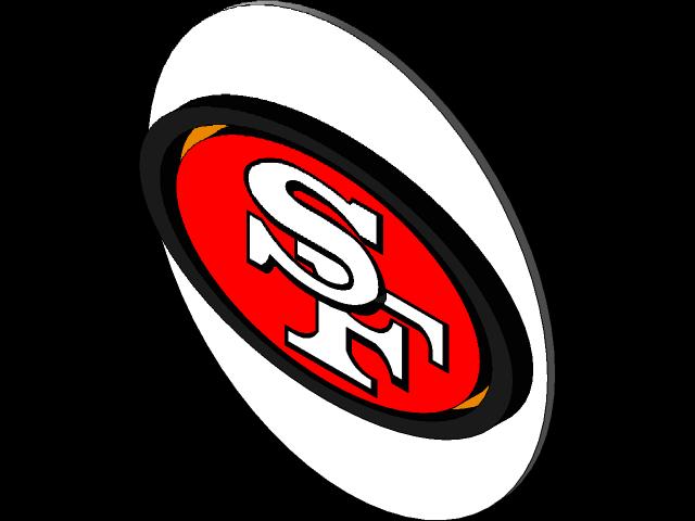 San Francisco 49ers Logo 3d Cad Model Library Grabcad