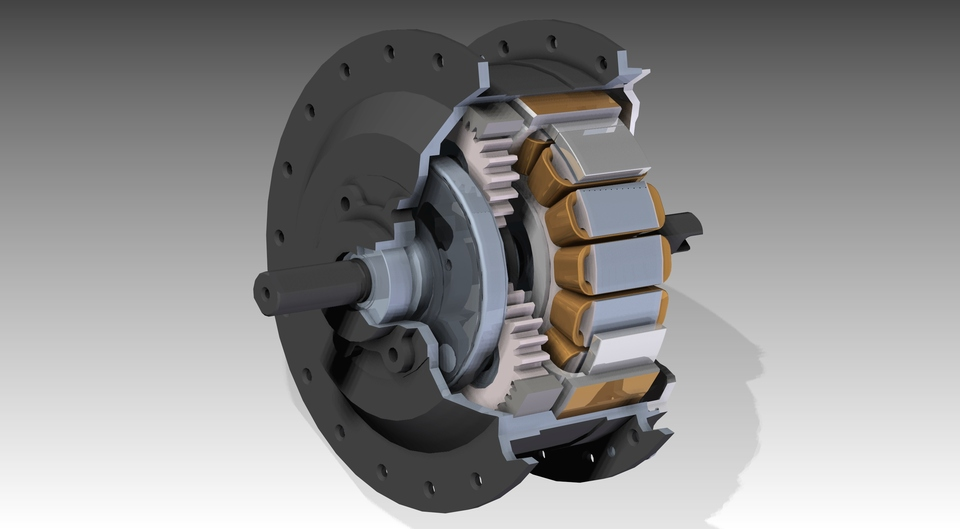 Golden motor 250w geared hub motor for front bicyclewheel golden motor 250w geared hub motor for front bicyclewheel minimotor 3d cad model library grabcad cheapraybanclubmaster Choice Image