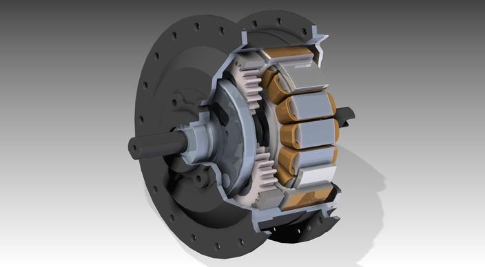 Golden Motor 250w Geared Hub Motor For Front Bicyclewheel
