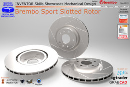 Inventor Skills - Brembo Sport Slotted Rotor
