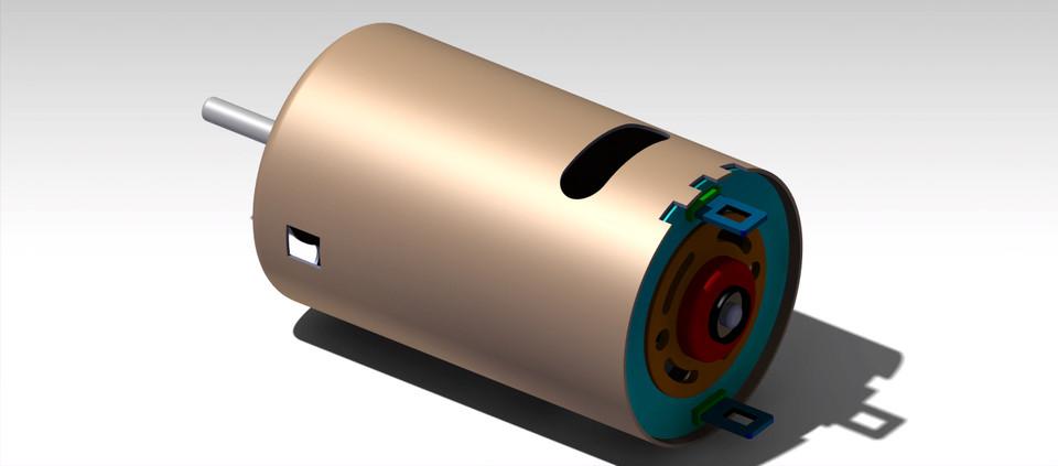 3000 RPM 12V DC MOTOR | 3D CAD Model Library | GrabCAD