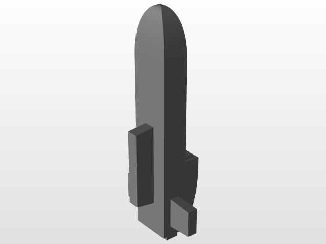Tau Seeker Missile   3D CAD Model Library   GrabCAD