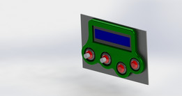 LCD DISPLAY FRAME WITH BUTTON 16x2 ARDUINO