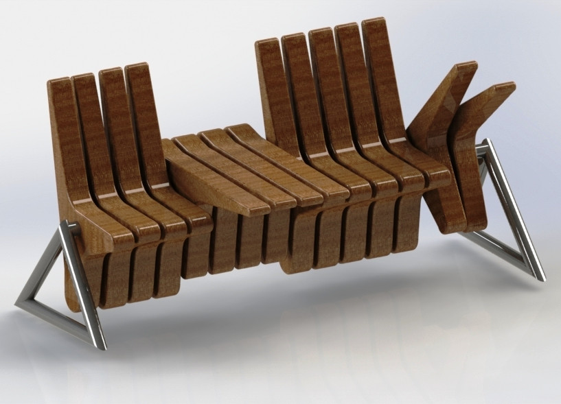 Transformable Chair U0026 Table   SOLIDWORKS   3D CAD Model   GrabCAD