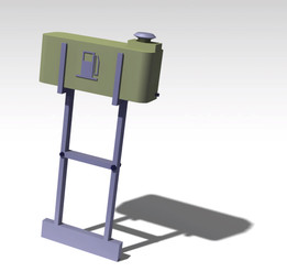 Fuel tank with stand