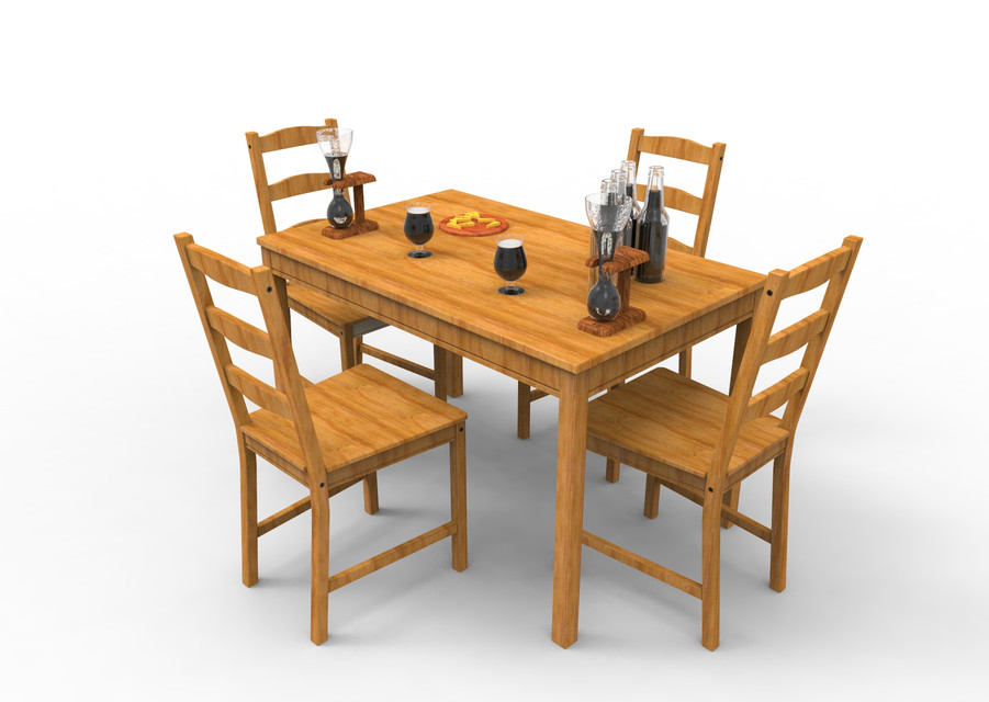Ikea jokkmokk table with chairs step iges 3d cad for Table 2 personnes ikea