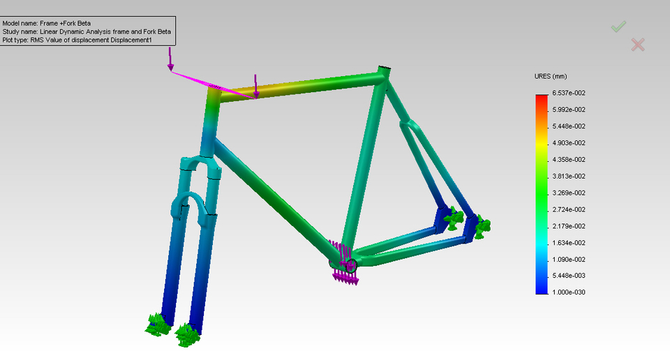 Linear Dynamic of a Bike Frame | SolidWorks Engineering | 3D CAD ...