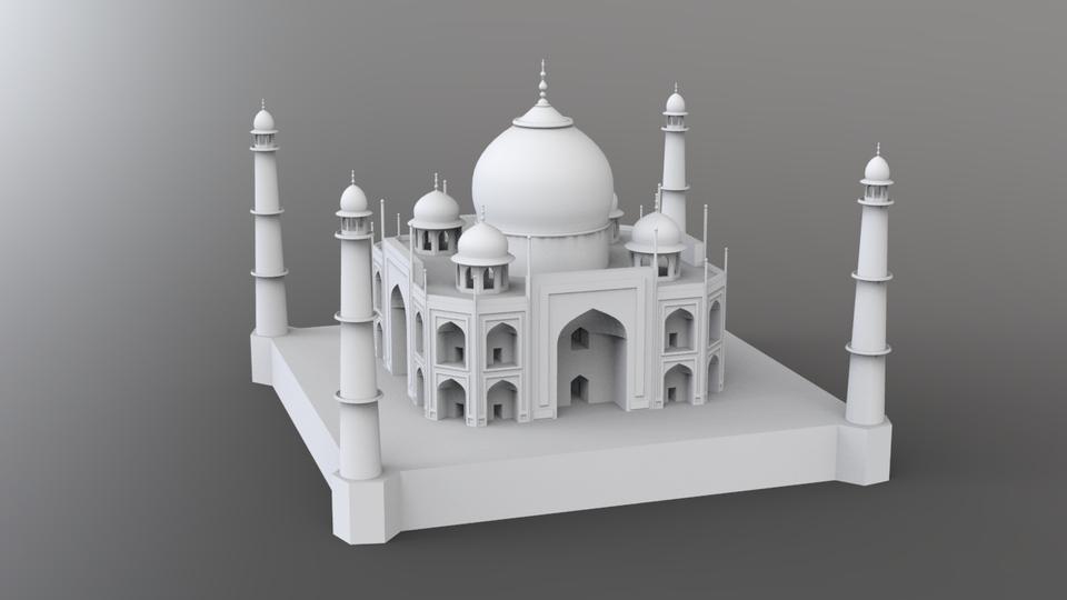 Taj Mahal 3d Image: 3D CAD Model Library