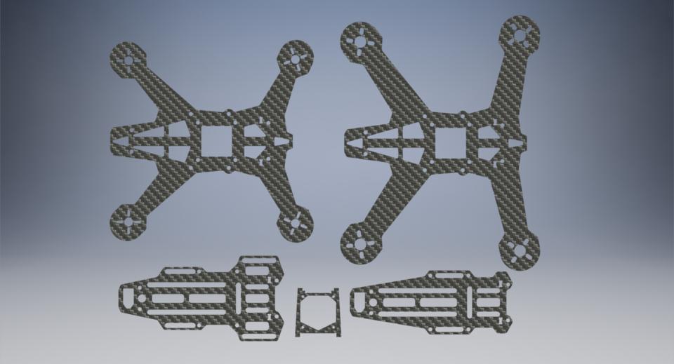 Hammerhead Quadcopter Frame | 3D CAD Model Library | GrabCAD