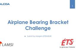 Airplane Bearing Bracket Challenge Morgan LETENNEUR