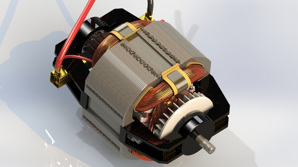 Universal ac dc electric motor 3d cad model library for Universal ac dc motor