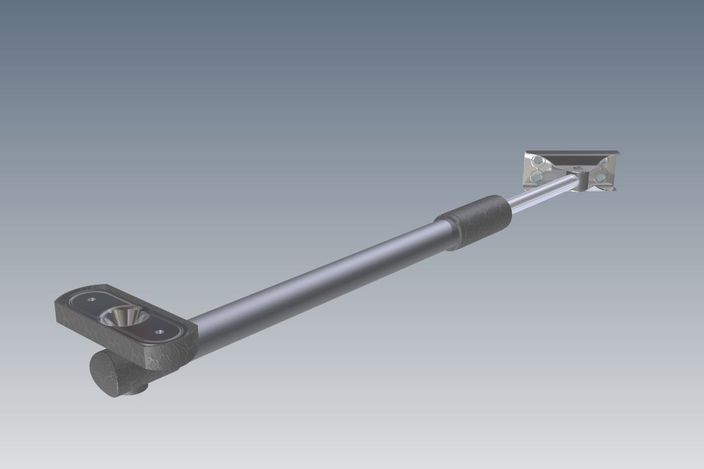 Telescopic Friction Stay Stl 3d Cad Model Grabcad