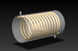 Request: Basic Idea Helically coiled heat exchanger with zigzag tube