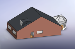 modern house bungalow no furniture scaled down