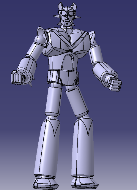 Robot Taekwon V of Rep  of Korea | 3D CAD Model Library | GrabCAD