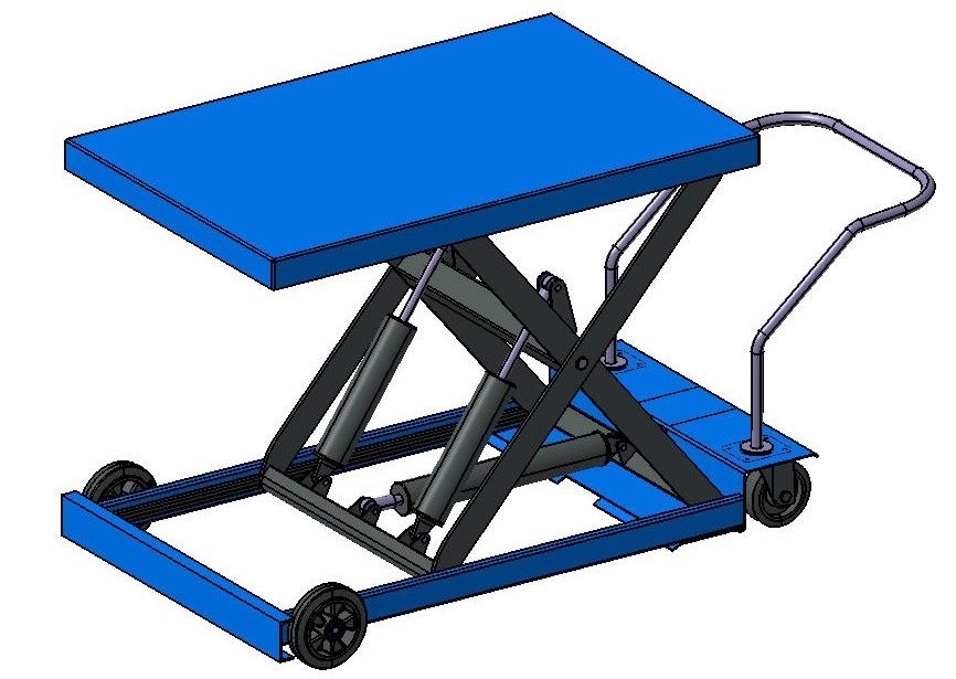 Lifting Table | 3D CAD Model Library | GrabCAD