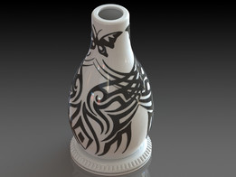 round base vase