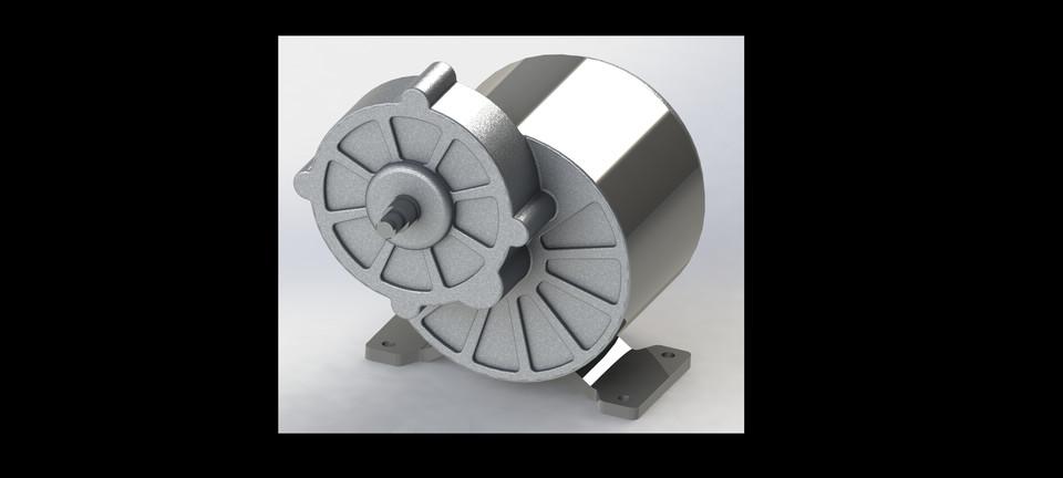 24V DC Motor MY1016Z3 | 3D CAD Model Library | GrabCAD