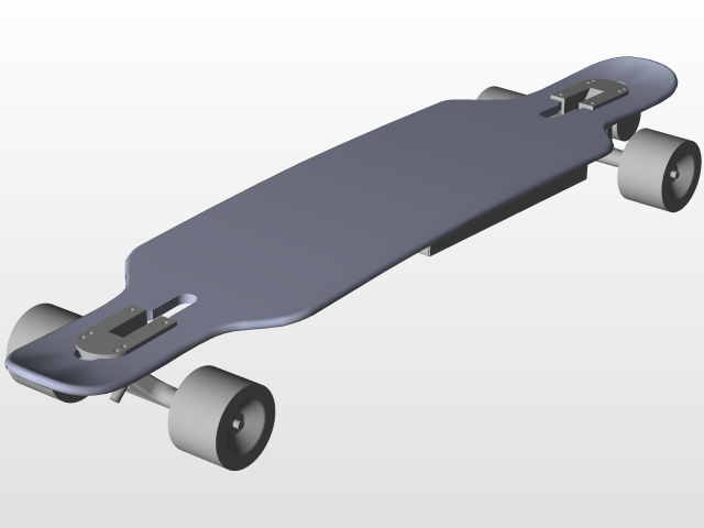 Diy Electric Longboard 3d Cad Model Library Grabcad