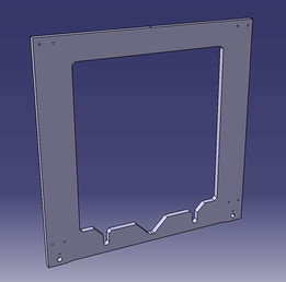 prusa i3 frame catia .CATPart .stp .stl .igs .model .dxf .dwg