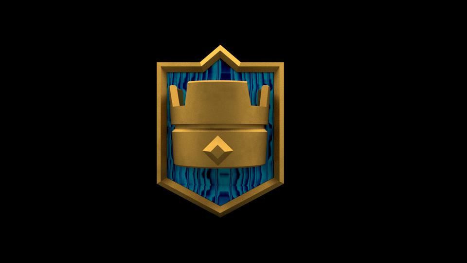 Clash Royale Logo 3d Cad Model Library Grabcad
