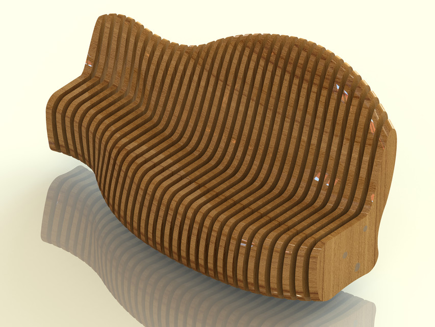 Fantastic Wooden Sofa Bench 3D Cad Model Library Grabcad Ibusinesslaw Wood Chair Design Ideas Ibusinesslaworg