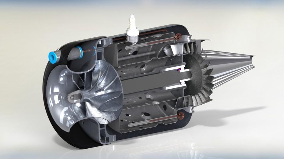 KJ66 RC TurboJet Engine STEP IGESSTLAutoCAD 3D CAD model – Jet Turbine Engine Diagram