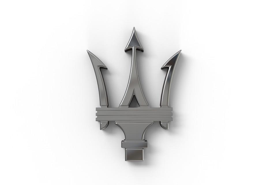 maserati logo 3d cad model library grabcad