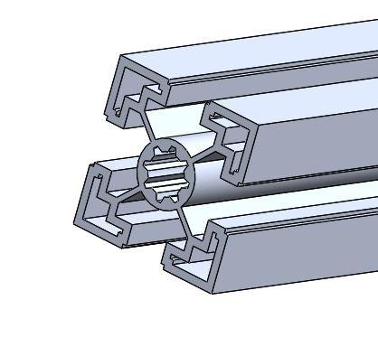 aluminium profile 40x40 mm | 3D CAD Model Library | GrabCAD