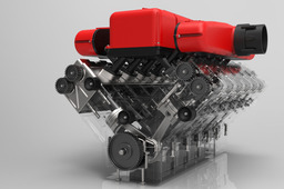 KeyShot 3D Rendering Competition (Ferrari Engine)