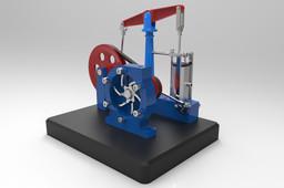 Horizontal beam engine with centrifugal pump