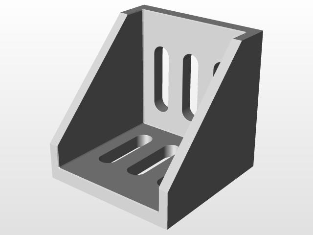 Aluminium profile 40x40 corner bracket   3D CAD Model